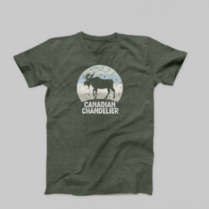 Canadian Chandelier t-shirt in military olive green