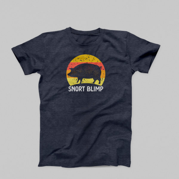 Snort Blimp T-Shirt in Heathered Navy