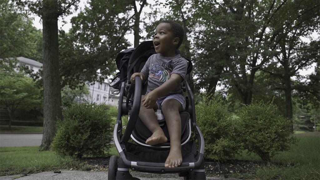 Picture of toddler sitting in a Colugo stroller