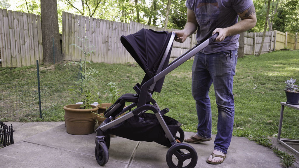 Side view of the Colugo Complete stroller